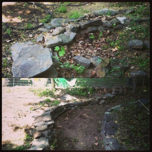 Who said women can't build walls? Before and after