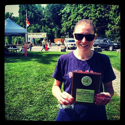 Second place overall for the Women's Duathlon