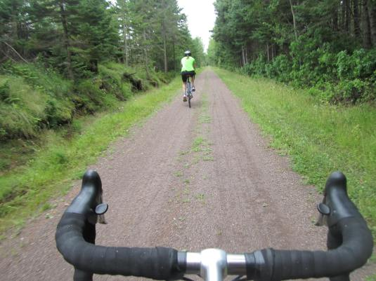 Riding along the Confederation Trail. I prefer if my jersey blends in with the surroundings.