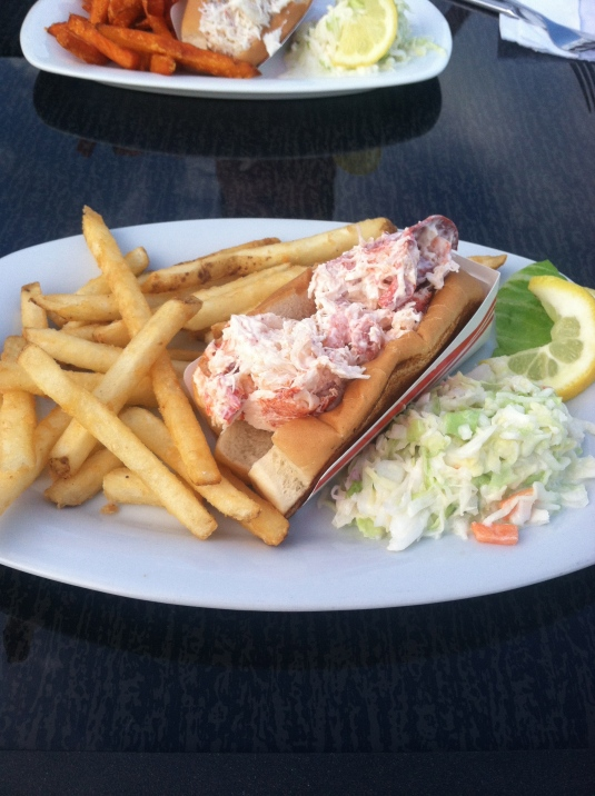 Fresh Maine lobster roll. Delish.