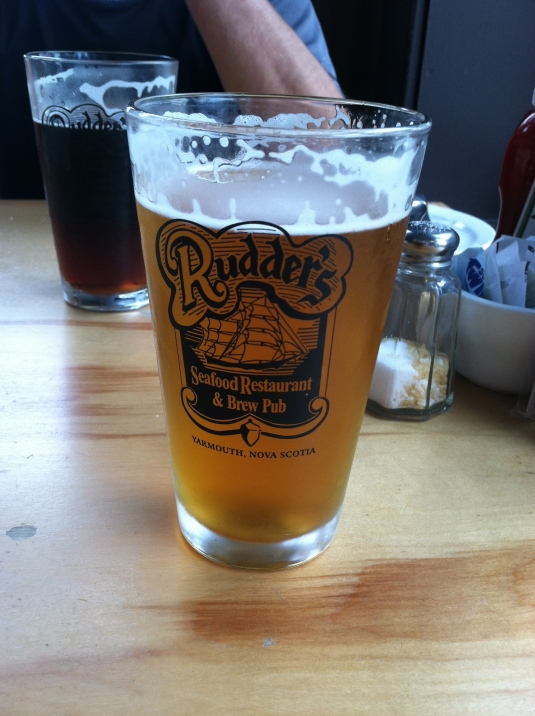Rudders...Yarmouth's own brewery