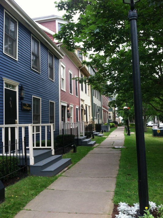 Colorful houses in Charlottetown