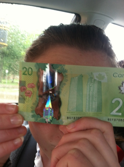Canadian Dollars are see through!