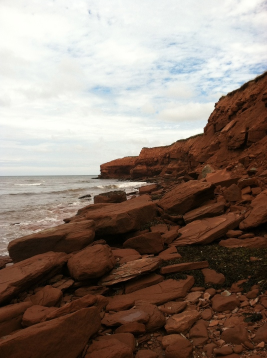 The red cliffs of PEI