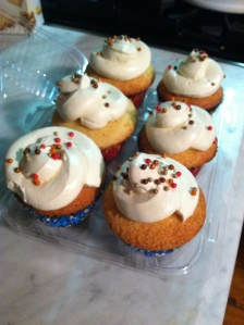 eggnog cupcakes with spiced rum buttercream...Good for warming your soul...I mean tummy