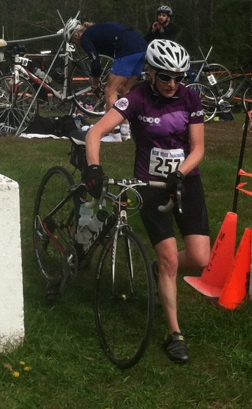 From the Trooper Duathlon...Ohh how I long for a Tri bike....