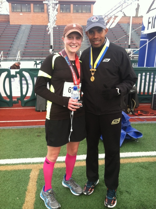 Hanging out with my new bestie, Meb Keflezighi