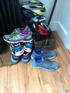 You know you have an Asics addiction when there are still three pairs of shoes that are not in the picture.