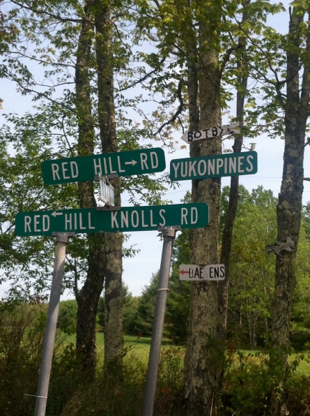 Note: the name of any road that includes